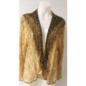 Sequin/Beaded Jacket Size Large